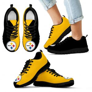 Two Colors Trending Lovely Pittsburgh Steelers Sneakers