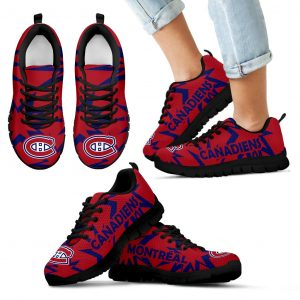 Zig Zag Circle Dizzy Excellent Nice Logo Montreal Canadiens Sneakers