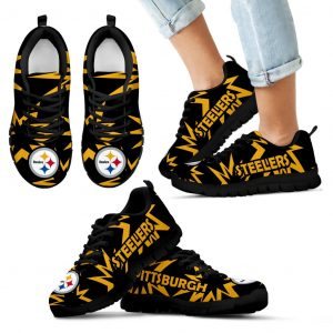 Zig Zag Circle Dizzy Excellent Nice Logo Pittsburgh Steelers Sneakers