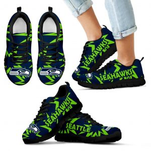 Zig Zag Circle Dizzy Excellent Nice Logo Seattle Seahawks Sneakers