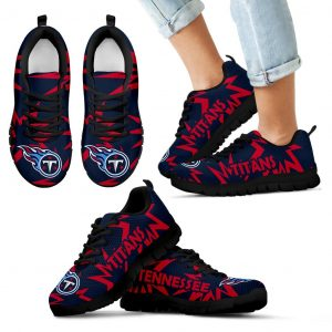 Zig Zag Circle Dizzy Excellent Nice Logo Tennessee Titans Sneakers