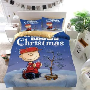 A Charlie Brown Christmas Peanuts Duvet Cover and Pillowcase Set Bedding Set