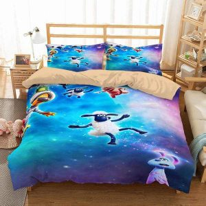 A Shaun The Sheep Duvet Cover and Pillowcase Set Bedding Set