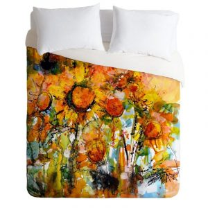 Abstract Sunflowers Duvet Cover and Pillowcase Set Bedding Set