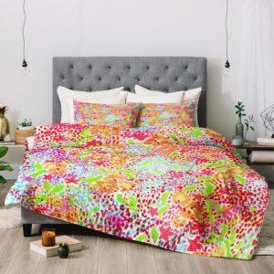 Abstract Tropics Duvet Cover and Pillowcase Set Bedding Set