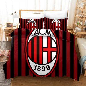 Ac Milan Duvet Cover and Pillowcase Set Bedding Set