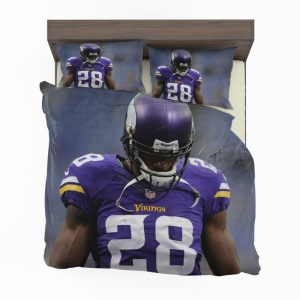 Adrian Peterson Minnesota Vikings American Football Duvet Cover and Pillowcase Set Bedding Set