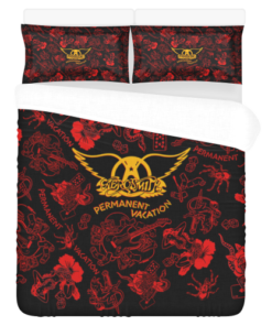 Aerosmith Duvet Cover and Pillowcase Set Bedding Set 90