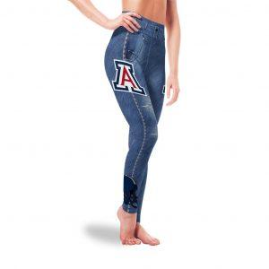 Amazing Blue Jeans Arizona Wildcats Leggings