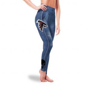 Amazing Blue Jeans Atlanta Falcons Leggings