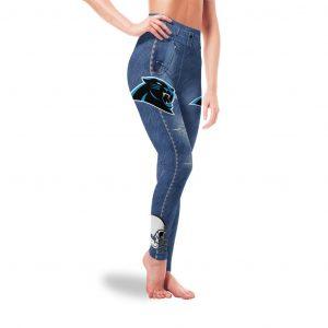 Amazing Blue Jeans Carolina Panthers Leggings