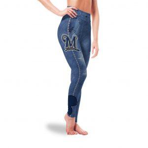 Amazing Blue Jeans  Milwaukee Brewers Leggings