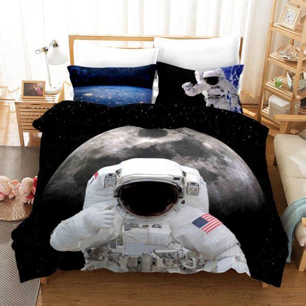 Astronaut 01 Duvet Cover and Pillowcase Set Bedding Set