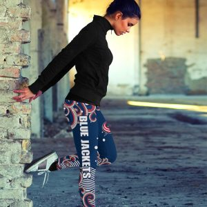 Colorful Summer With Wave Columbus Blue Jackets Leggings